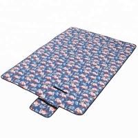 Коврик для пикника Фламинго синий