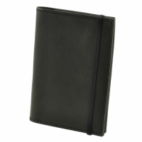 Кожаная Обложка на паспорт Black + блокнот
