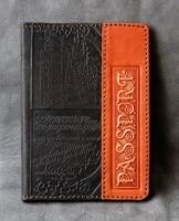 Кожаная Обложка на паспорт Рыжий Гранд