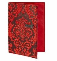 Кожаная Обложка на паспорт Винтаж Red