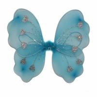 Крылья Бабочки с сердечками (голубые) 32х36см