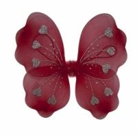 Крылья Бабочки с сердечками (красные) 32х36см