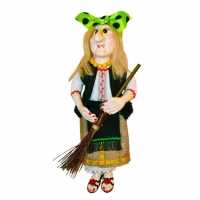 Кукла Баба Яга в вышиванке