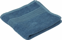 Махровое полотенце синее гладкокрашеное 50х90