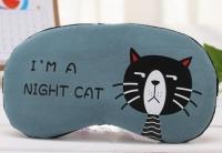 Фото Маска для сна Night cat blue