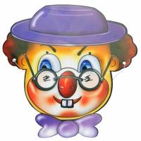 Маска Клоун картон (уп. 6 шт.)