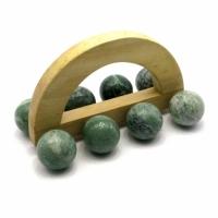 Массажер нефрит 8 шаров 15,5х8,5см
