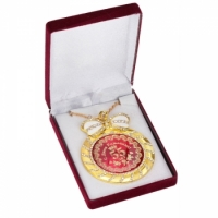 Фото Медаль deluxe с кристаллами 55 лет