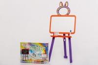 Мольберт двусторонний Active Baby Оранжево-фиолетовый