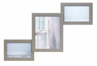 Деревянная мультирамка Лесенка Комбо серебро на 3 фото