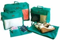 Набор дорожных сумок 5 шт (лазурь)