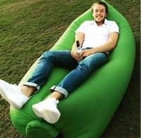 Надувное кресло-лежак салатовое