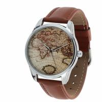 Наручные часы Карта коричневый