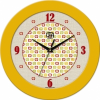 Настенные Часы Fashion Яблочки Yellow