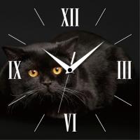 Настенные Часы Panorama Черный Кот
