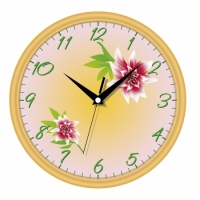Настенные Часы Сlassic Цветущая Орхидея