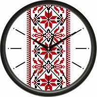 Настенные Часы Сlassic Элемент Вышиванки Black