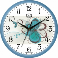 Настенные Часы Сlassic Голубой Цветочик
