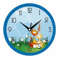 Настенные Часы Сlassic Котята Blue