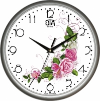 Настенные Часы Сlassic Нежный букет Роз Grey