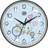 Настенные Часы Сlassic Стильный Велосипед Grey