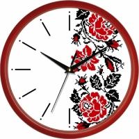 Фото Настенные Часы Сlassic Украинский Орнамент Red