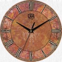Настенные Часы Vintage Абстракция в коричневых оттенках