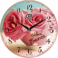 Настенные Часы Vintage Букет из Роз в чашке