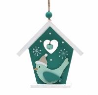 Фото Новогоднее украшение Домик с птицей