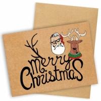Открытка Merry Christmas Santa