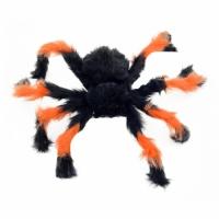 Паук из меха 50см (черный с оранжевым)