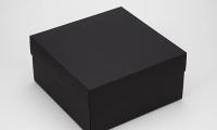 Фото Подарочная коробка Grand черная 20х20х10 см