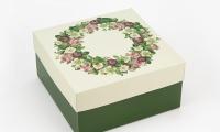 Подарочная коробка Весенний Венок 20х20х10 см