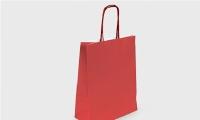 Подарочный пакет Крафт красный 18х8см