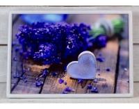 Фото Поднос на подушке Лавандовое сердце