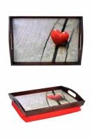 Фото Поднос подушка Красное Сердце
