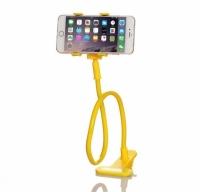 Подставка для телефона с вращающейся 360 желтая
