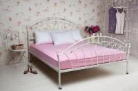 Простынь трикотажная на резинке розовый 160х200 см