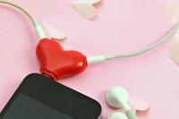 Фото Разветвитель для наушников Сердце