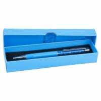 Ручка шариковая Aquamarine с кристаллами голубая