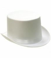 Шляпа Цилиндр атласная (белая)