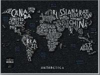 Фото Скретч Карта Мира LETTERS World