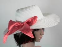 Соломенная шляпа Инегал 40 см белая