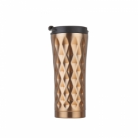 Starbucks steel tumbler 17oz gold