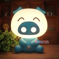 Светильник ночник Свинка Blue