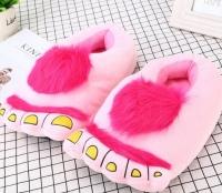 Фото Тапочки ноги первобытного человека pink