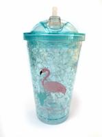 Термостакан Ice Cap Фламинго (Голубой )