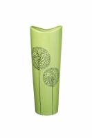 Ваза глянцевая Деревья зеленая 30 см