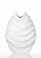 Ваза керамическая Изгиб белая 30 см