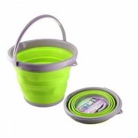 Ведро складное силиконовое круглое (зеленое) 3л
